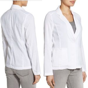 $218 NWT Eileen Fisher Linen Notch Collar Blazer